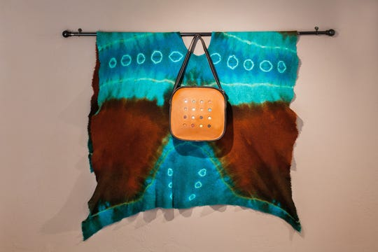 Wall hanging and bag by Mary Ellen Sisulak of Turtle Ridge Gallery, one of the sites on the Ellison Bay Arts Fall Art Crawl on Oct. 20 and 21.
