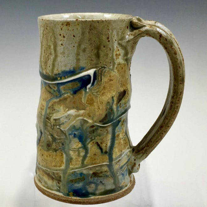 Clay stein from Ellison Bay Pottery, one of the sites on the Ellison Bay Arts Fall Art Crawl on Oct. 20 and 21.
