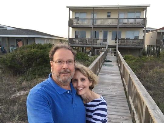 Teresa and David Gray at the beach