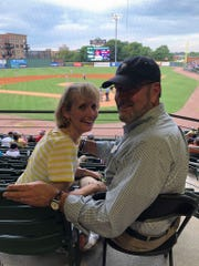 Teresa and David Gray at a Greenville Drive ball game