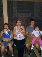 The family of Mercedes Walkingchild and Lyle Ahenakew includes children Kaleah, 10, Amari, 2, Julian, 1, and Lyle Jr., 3 months.