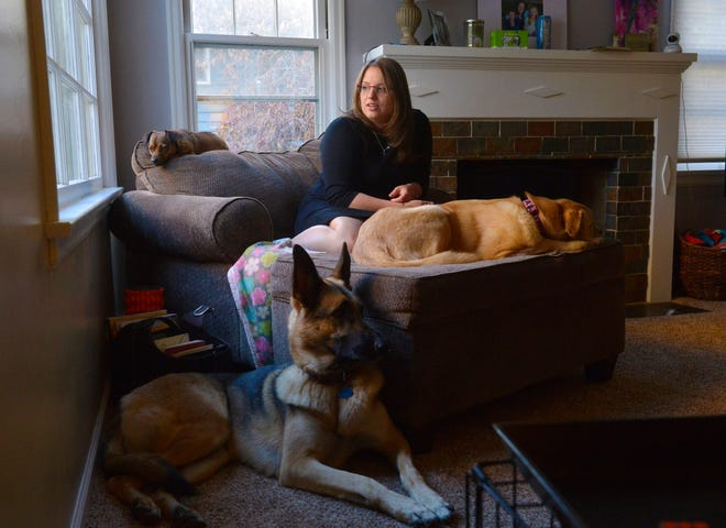 Teresa Appelwick is a volunteer with Dogs on Deployment, a national organization that links military members on deployment with dog sitters.  Appelwick has taken care of Wayway and Ciri for the past 8 months while their owner has been deployed.