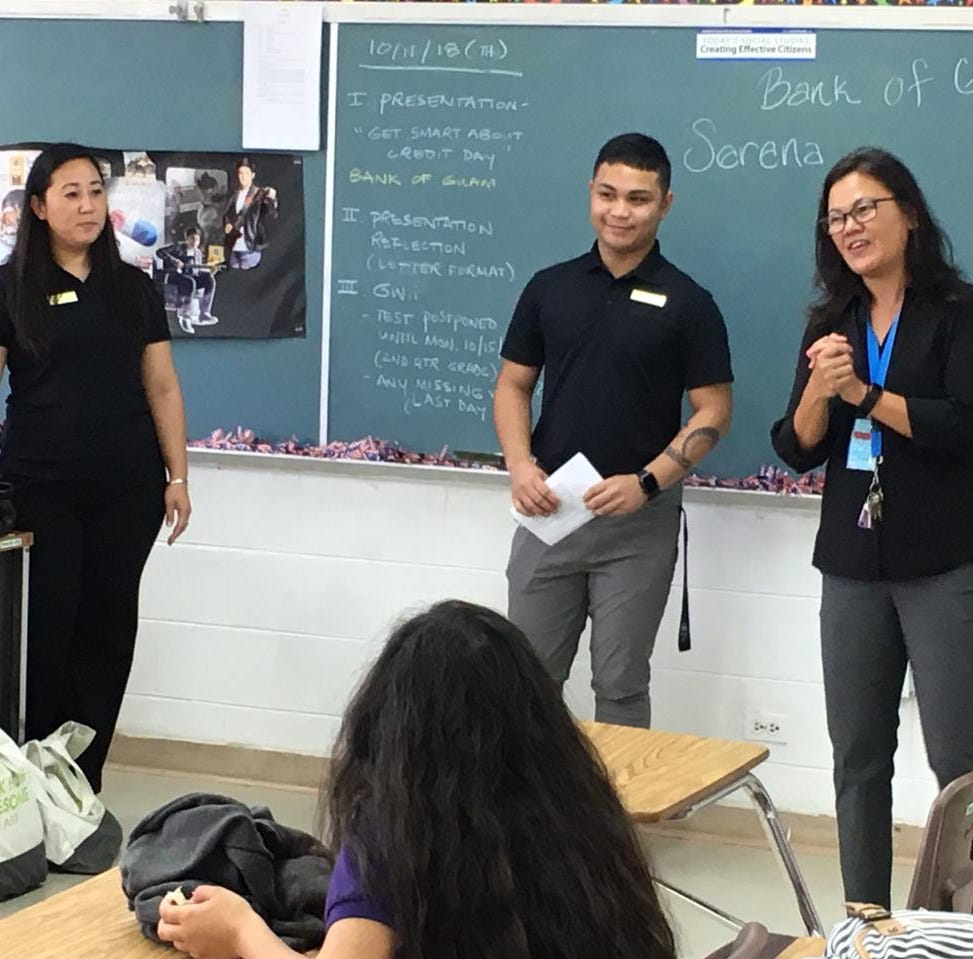 Bank of Guam gives financial tips to high school students
