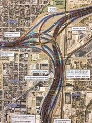 INDOT's preferred alternative to reconstruct the I-65/I-70 North Split.