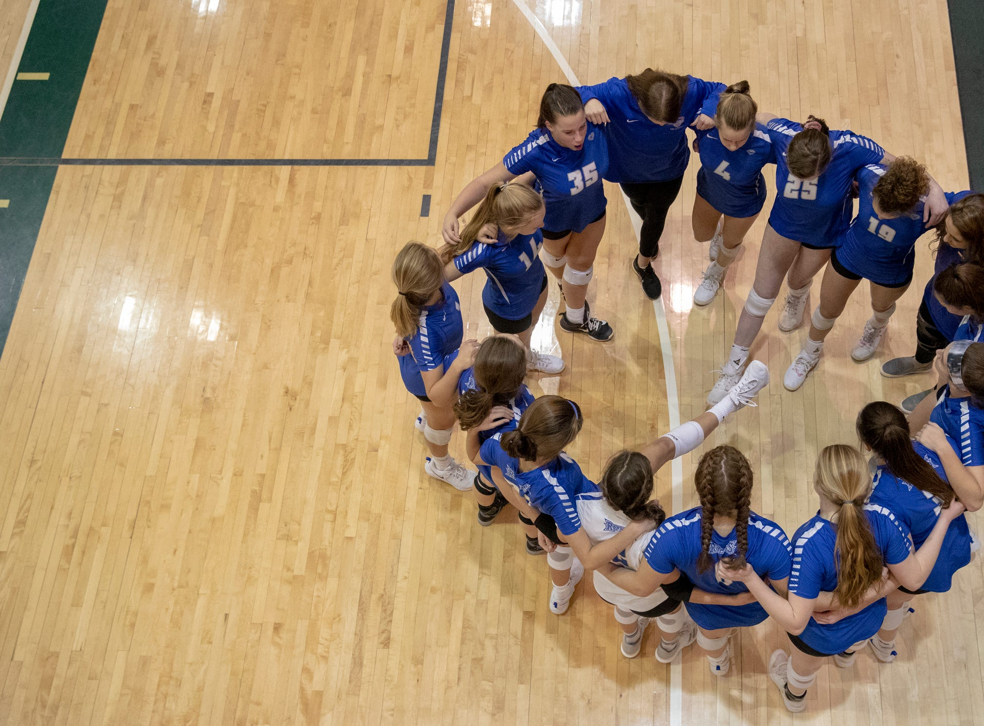 FHS defeated HSE in three straight sets in the first round of the volleyball sectional at Westfield High School, Westfield, Thursday, Oct. 11, 2018. The win matches them up with Westfield High School for a game on Saturday morning at 11a.m.