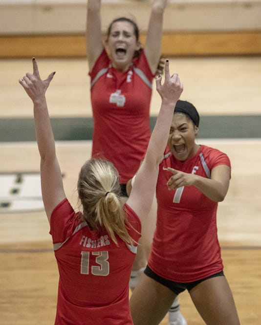 Fishers Volleyball Deveats Rival Hse