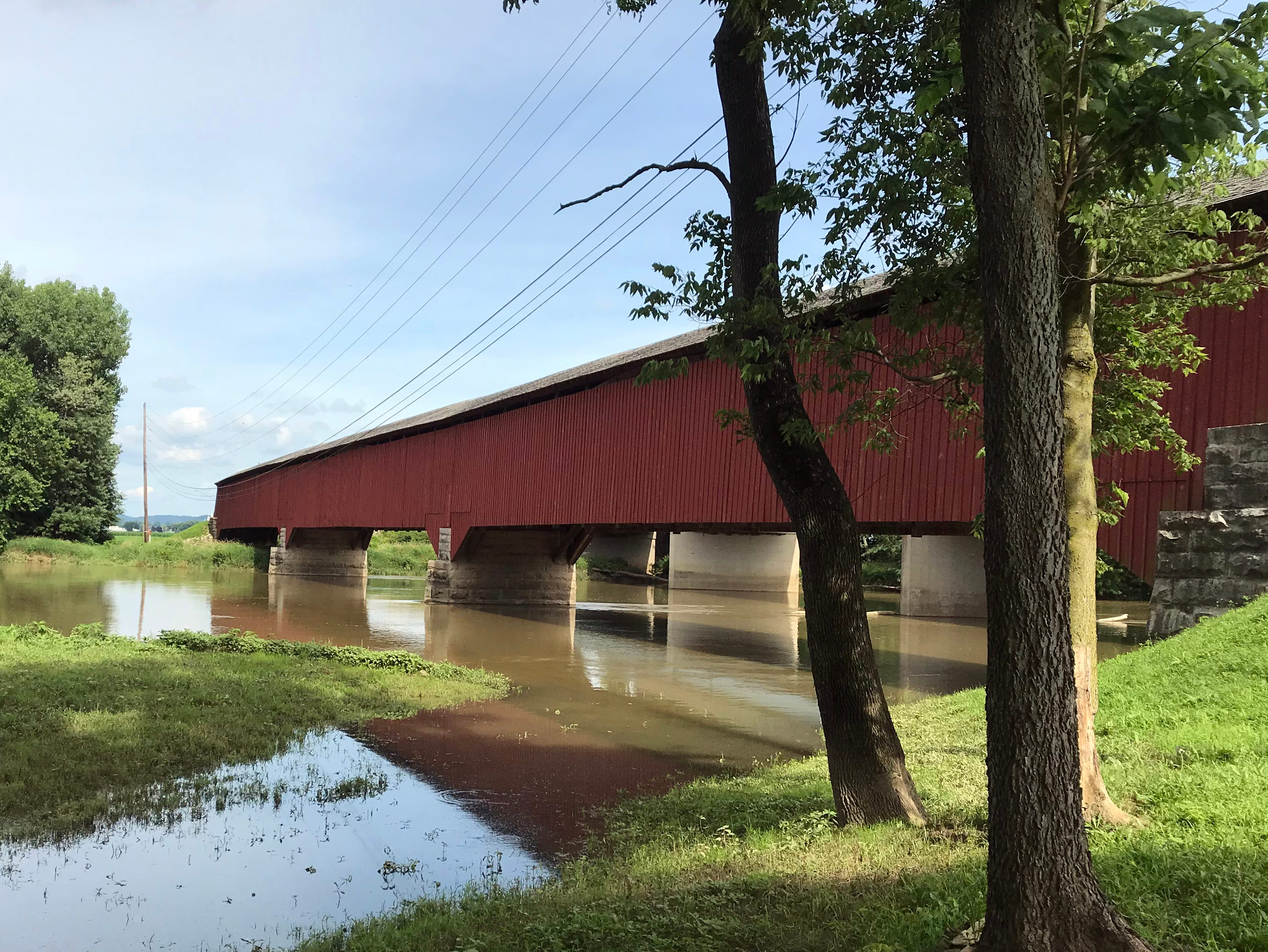 The Medora covered bridge in Jackson Co. is the longest covered bridge in Indiana and depending on how it is measured, the longest in the United States. June 28, 2018
