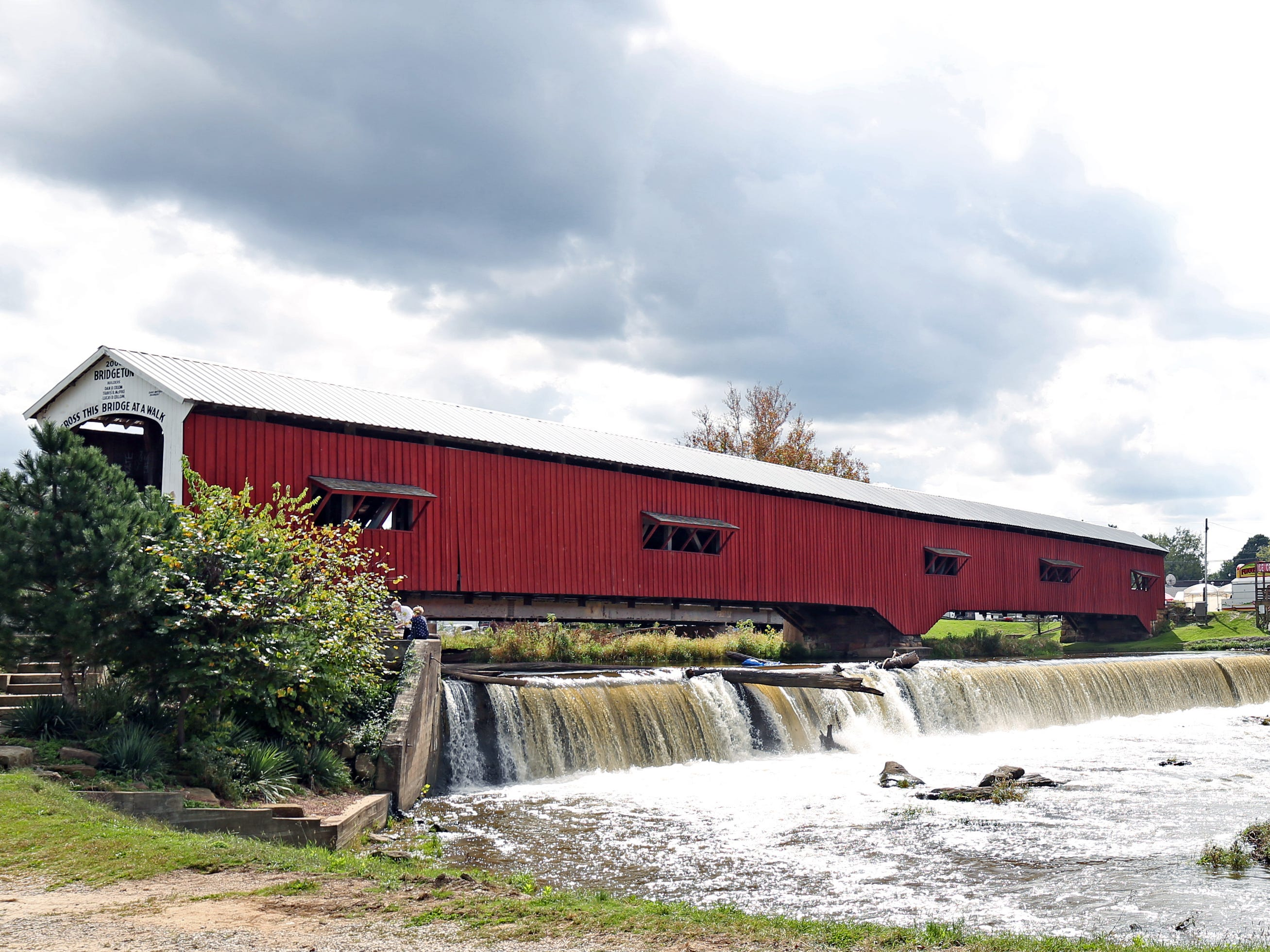 The Bridgeton covered bridge in Parke County is Indiana Ôs Most Famous Covered Bridge, shown here on Oct. 9, 2018.