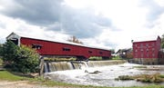 The Bridgeton covered bridge in Parke County is Indiana's Most Famous Covered Bridge and a stunning backdrop for the annual festival.