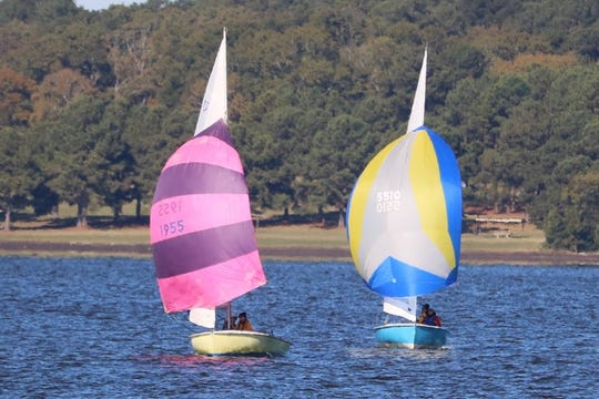 Sailboats at The Hospitality Regatta at the Reservoir, October 2017