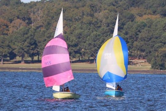 Sailboats at The Hospitality Regatta at the Reservoir, October 2017