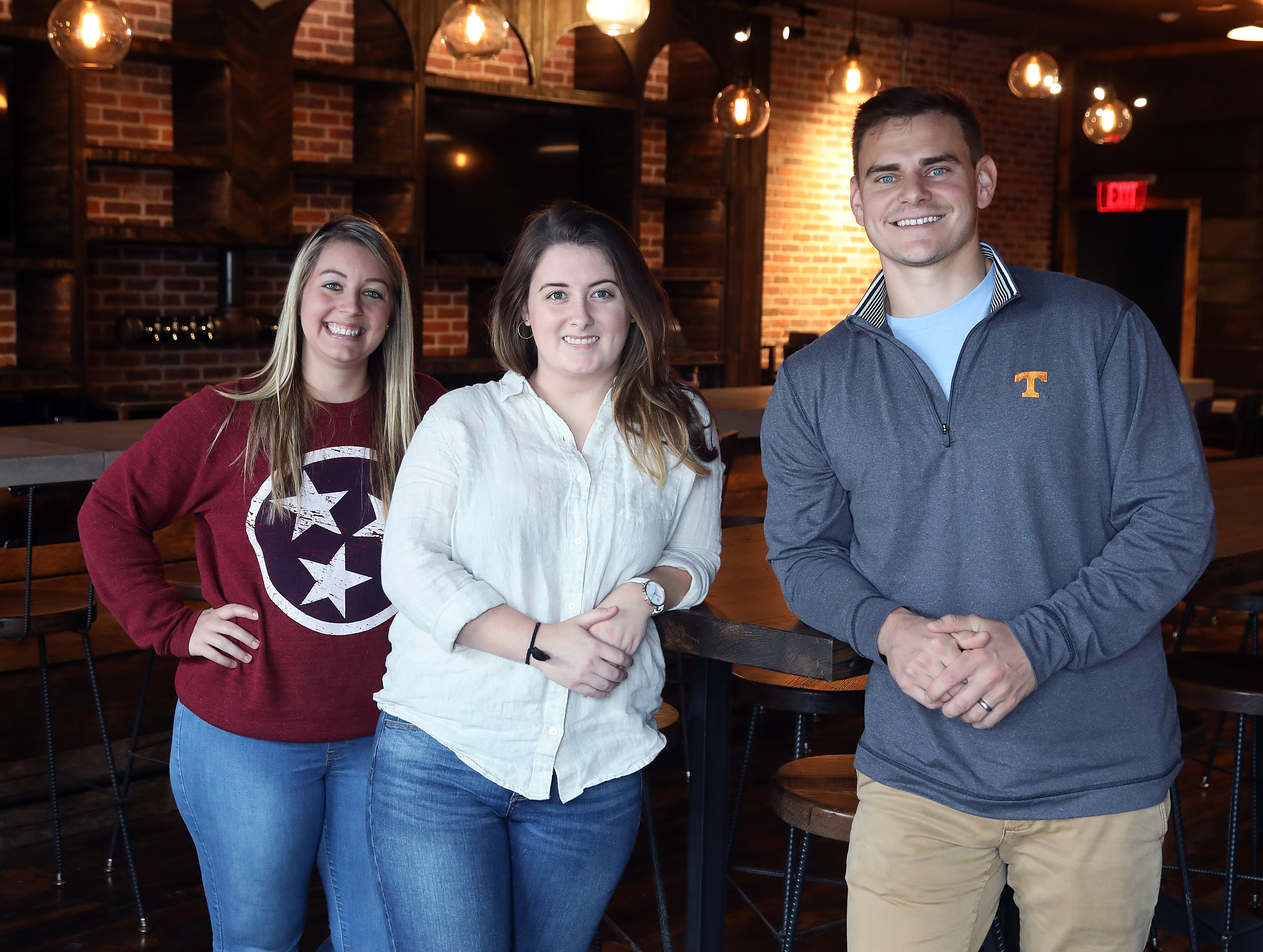 Shannon Conklin, Chole Broussard and Ben Austin of Stock & Barrel are at their Nashville location in October to be ready for the opening in November.