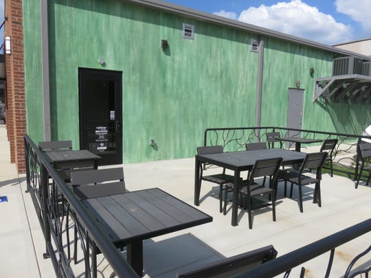Nekter Juice Bar features a patio in the rear.