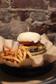 Stock & Barrel cheeseburger with fries