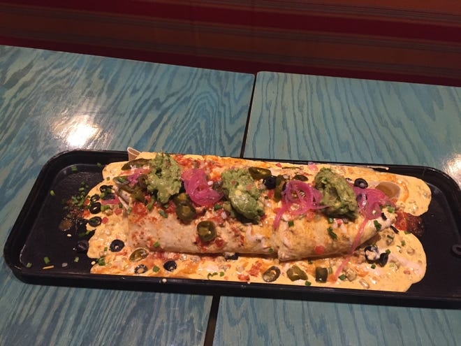 The six-pound Diablo Burrito is available at Loco inside Cypress Bayou Casino Hotel.