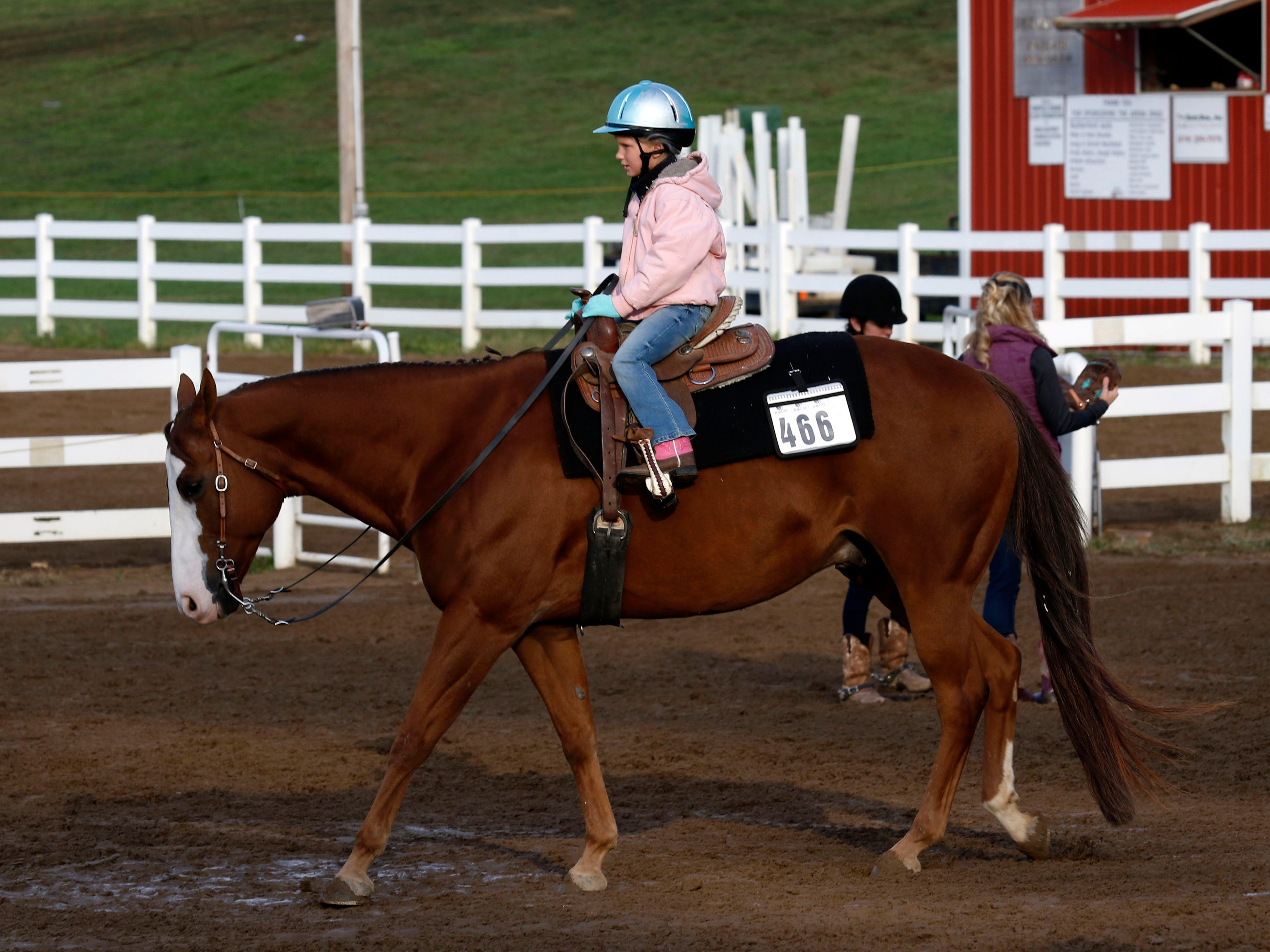 The horse show continued Friday, Oct. 12, 2018, at the Fairfield County Fair in Lancaster.