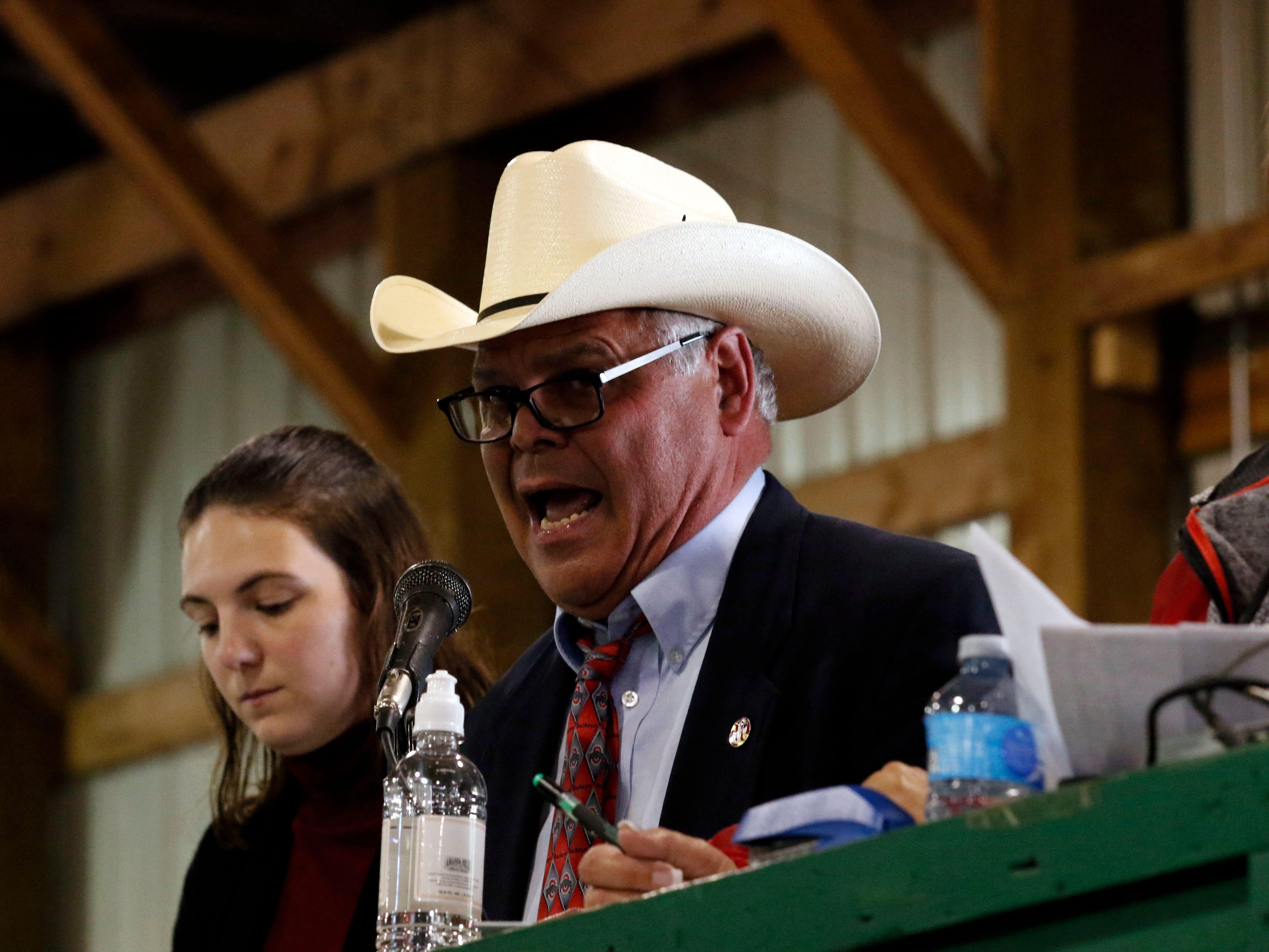 The junior fair livestock auction began Thursday evening, Oct. 11, 2018, at the Fairfield County Fair in Lancaster.