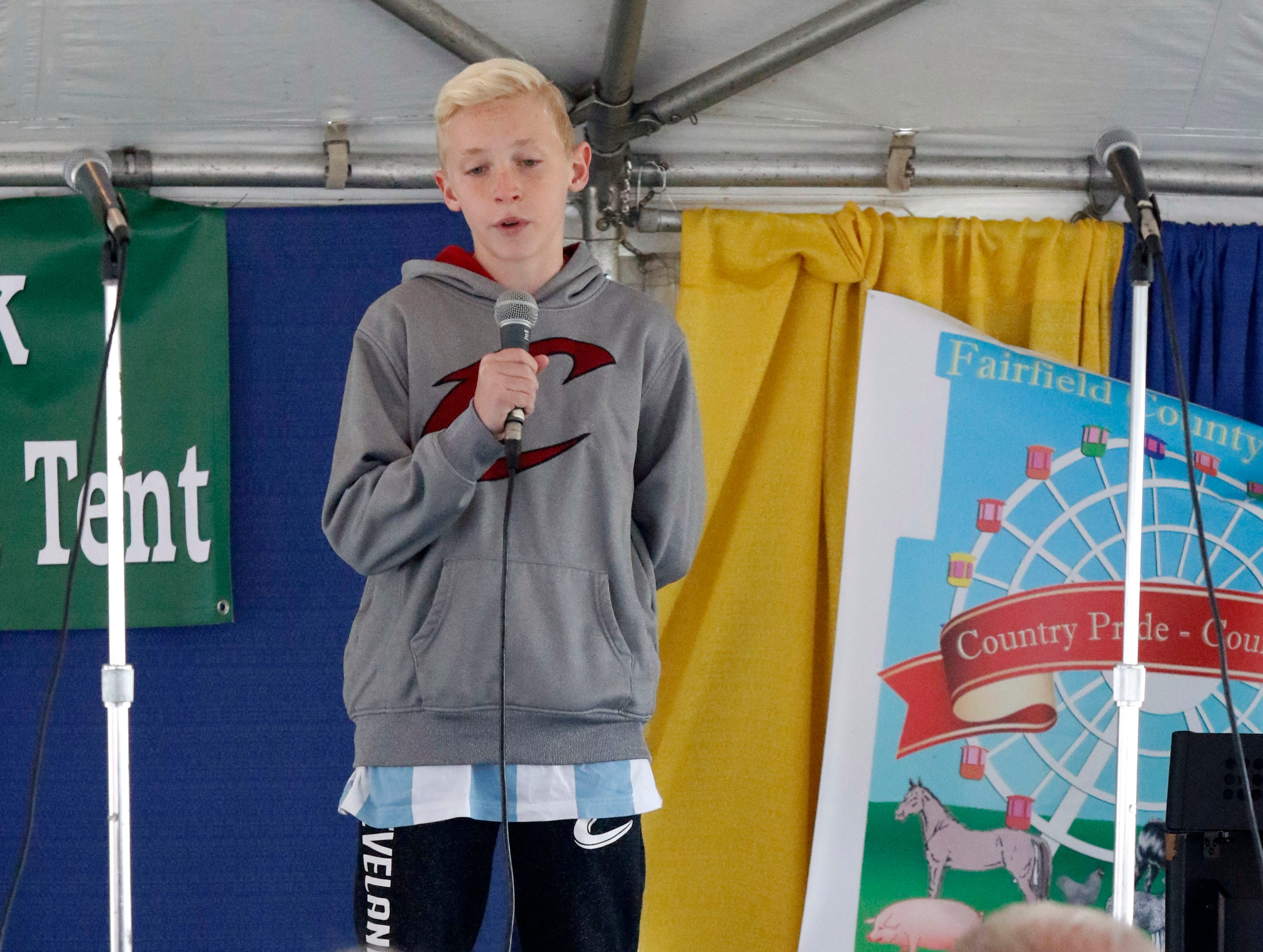 Students in sixth through 12th grade participated in the Rising Stars contest Friday, Oct. 12, 2018, at the Fairfield County Fair in Lancaster.