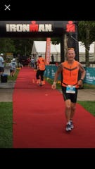 Randall Bowden competes in an Ironman event.