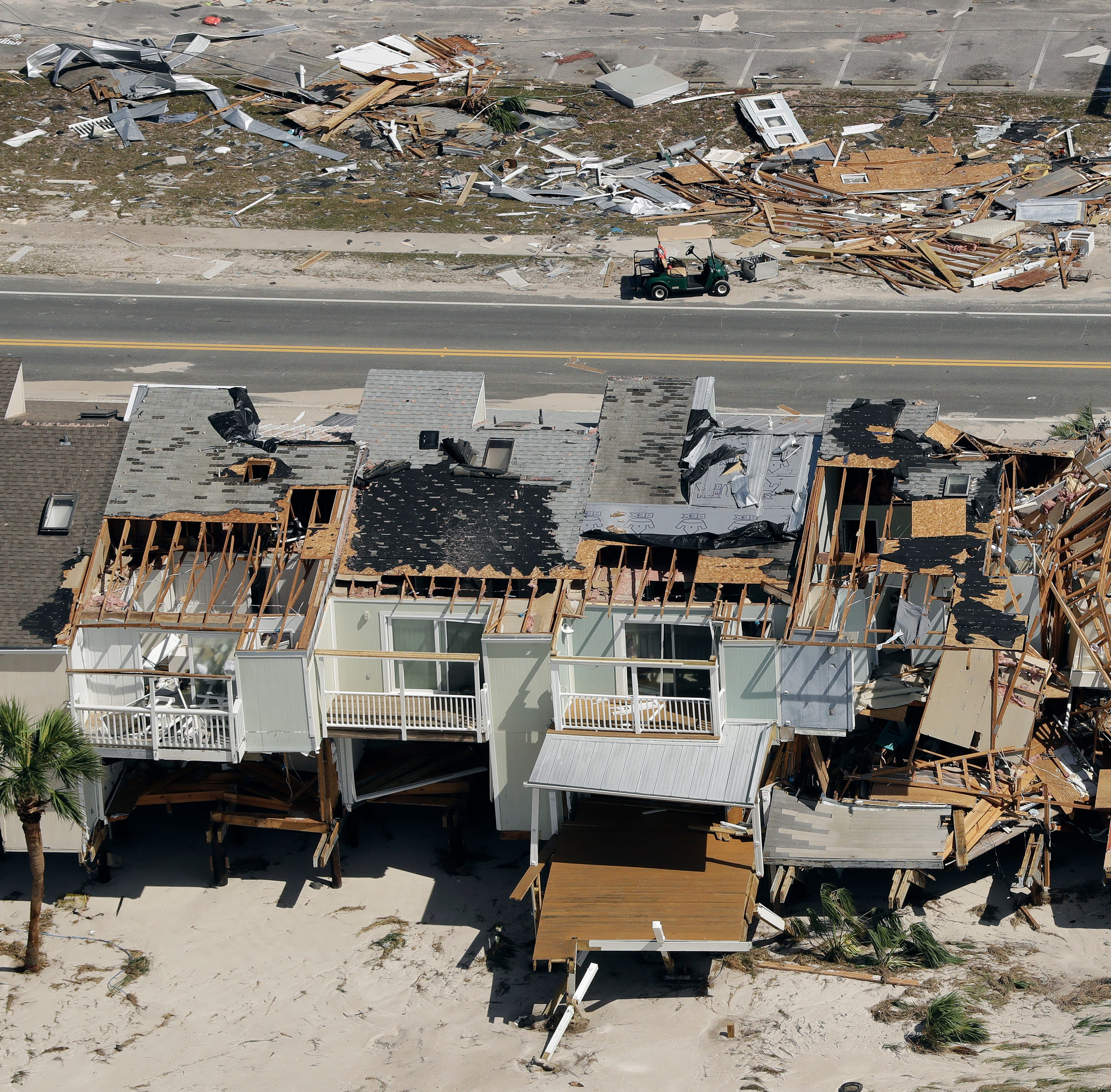 These before and after aerial pictures really put Hurricane Michael damage in perspective