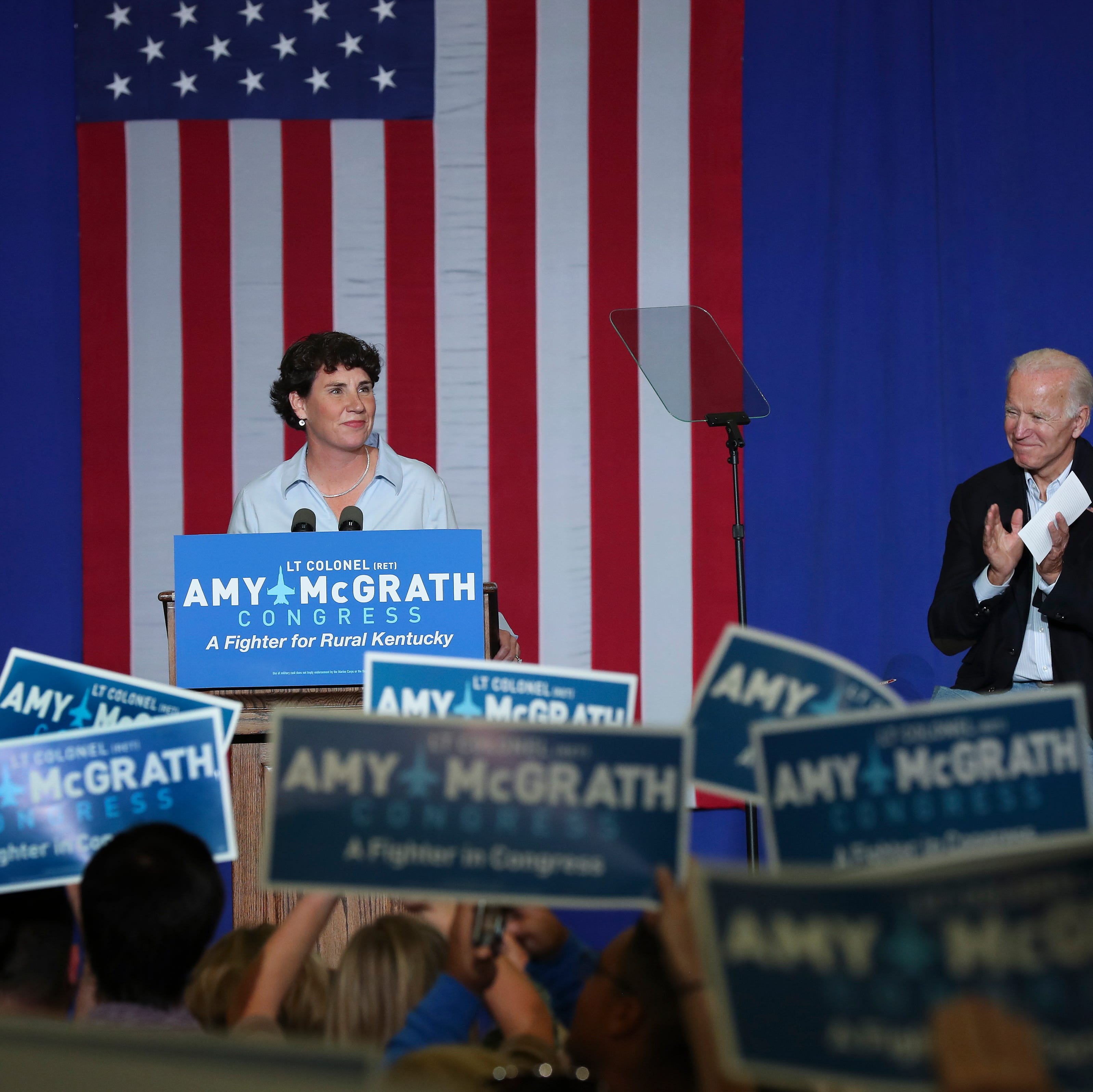 Biden energizes McGrath supporters with calls to 'take back' the House