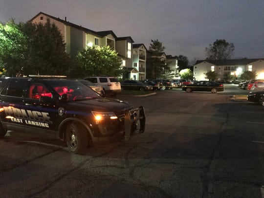 East Lansing police investigate a fatal shooting at the 25 East apartment complex near Michigan State University.