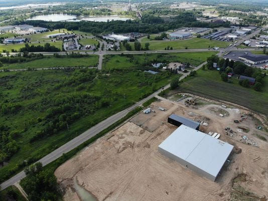 A medical marijuana company called Green Peak Innovations is expected to open by the end of this year at Creyts and Lansing roads. The company will occupy 25 acres in Harvest Park's 131-acre footprint.