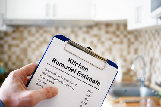 Clipboard With Kitchen Remodel Estimate Cost Of Renovation