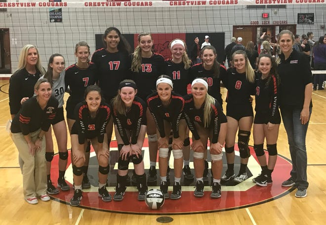 The Crestview Lady Cougars won the first Firelands Conference championship in volleyball since 1996 on Thursday night.
