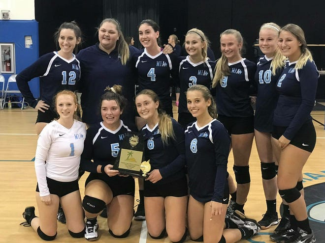 The Marco Island Academy volleyball team won the Paradise Coast Athletic Conference title with a victory over Donahue Academy on Thursday night. The Manta Rays improved to 12-12 this season, one year after not winning a match the entire season.