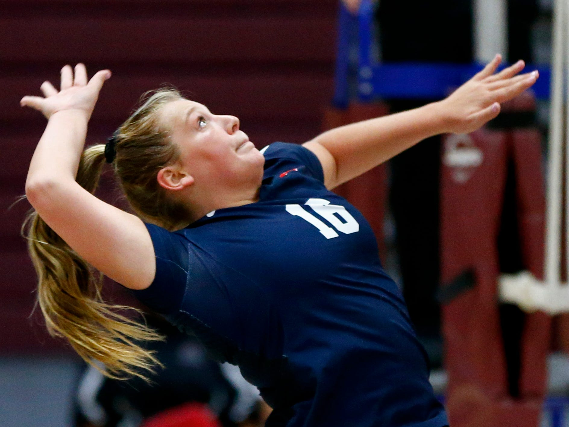 Brookfield East's Emily Veenhuis drives the ball at Menomonee Falls on Oct. 11.