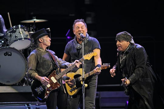 Bruce Springsteen and the E Street Band perform at the BMO Harris Bradley Center on March 3, 2016.