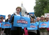 Health care was the dominant issue of the Senate campaign. Tammy Baldwin has been an advocate for better health care.