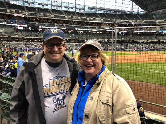 Ron and Stacey Pierce have come to a lot of Brewers games together. When Robin Yount made got 3,000th hit in 1992, they were in the stands together. And they came to the Brewers' opening playoff in the NLCS against the Los Angeles Dodgers Oct. 12, 2018.