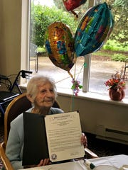 Anne Psenko celebrated her 100th birthday Oct. 10 at Howard Village in St. Francis. The city issued a proclamation in her honor.