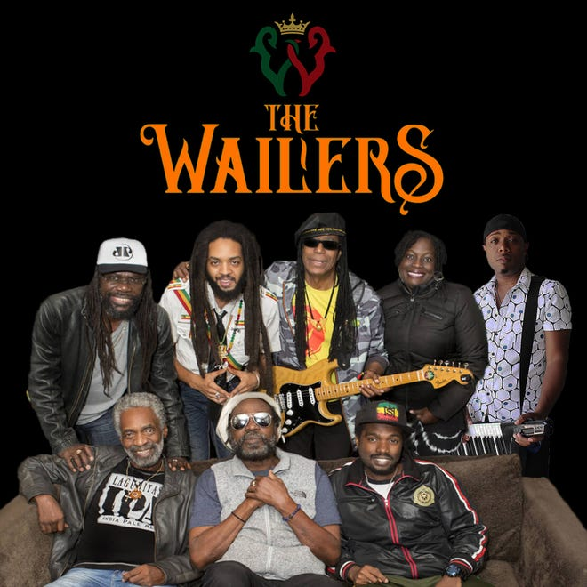 """The Wailers will perform the songs of reggae pioneer Bob Marley at the Newton Theatre on Friday, October 26.  The band features three members who played with Marley before his death in 1981: bassist Aston """"Familyman"""" Barrett and guitarists Julian Junior Marvin and Donald Kinsey."""