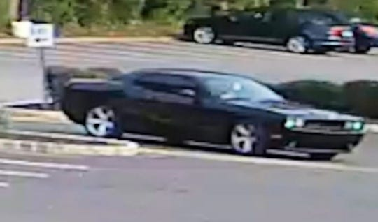 Surveillance photo of a car suspected to be involved in a robbery of Bank of America on Oct. 1 on Columbia Turnpike in Florham Park.