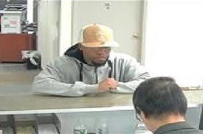 Surveillance photo of a man suspected of robbing Bank of America on Oct. 1 on Columbia Turnpike in Florham Park.