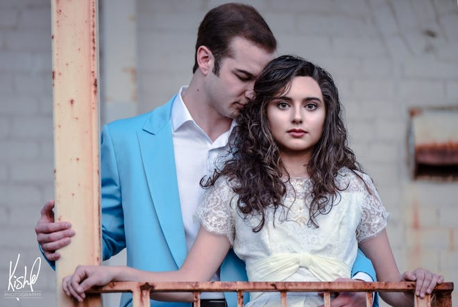 "Matthew Kosin and Aiszah Rangel play Tony and Maria in Muncie Civic Theatre's production of ""West Side Story."""