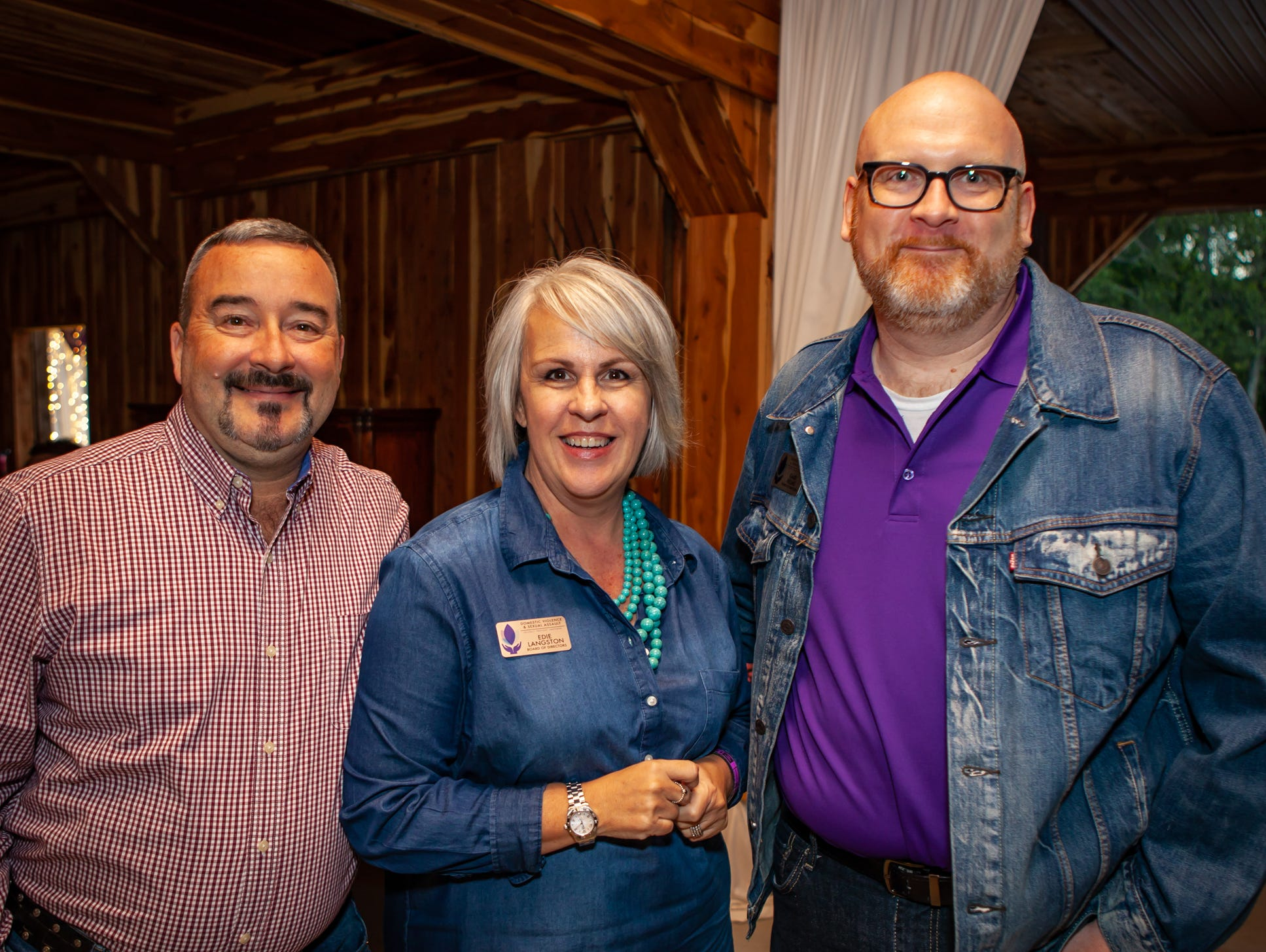 Boots and Brews:  Tom and Edie Langston and Gabe Helms
