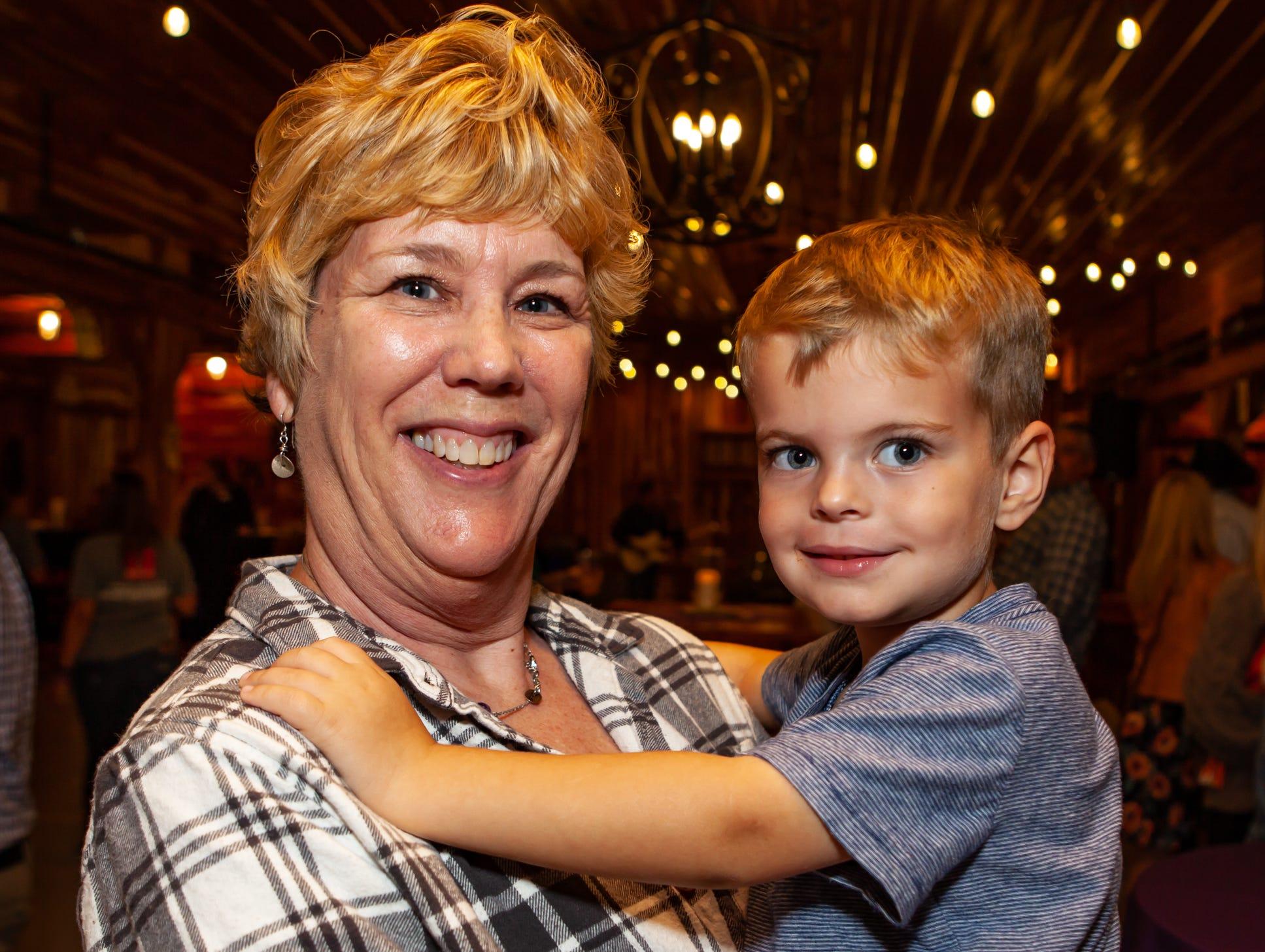 Boot and Brews: Karen Lampert and grandson Dean Brisco