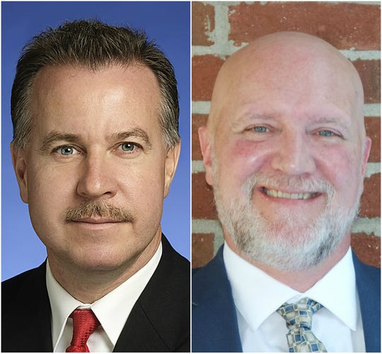 Mike Sparks, left, and Chris Mayor are competing to represent District 49 in the Tennessee House of Representatives.