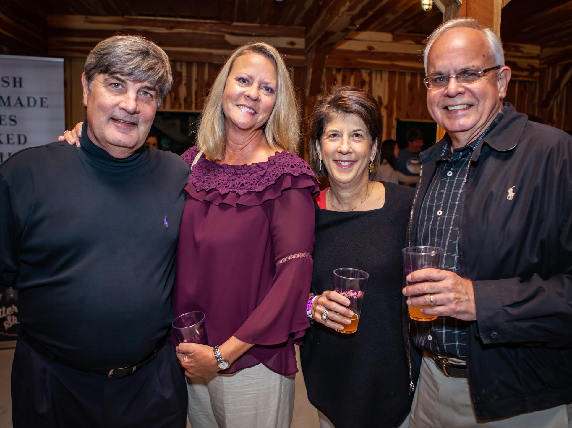 Boots and Brews: Rick Mansfield, Lori Price, and Mary and Mike Francis