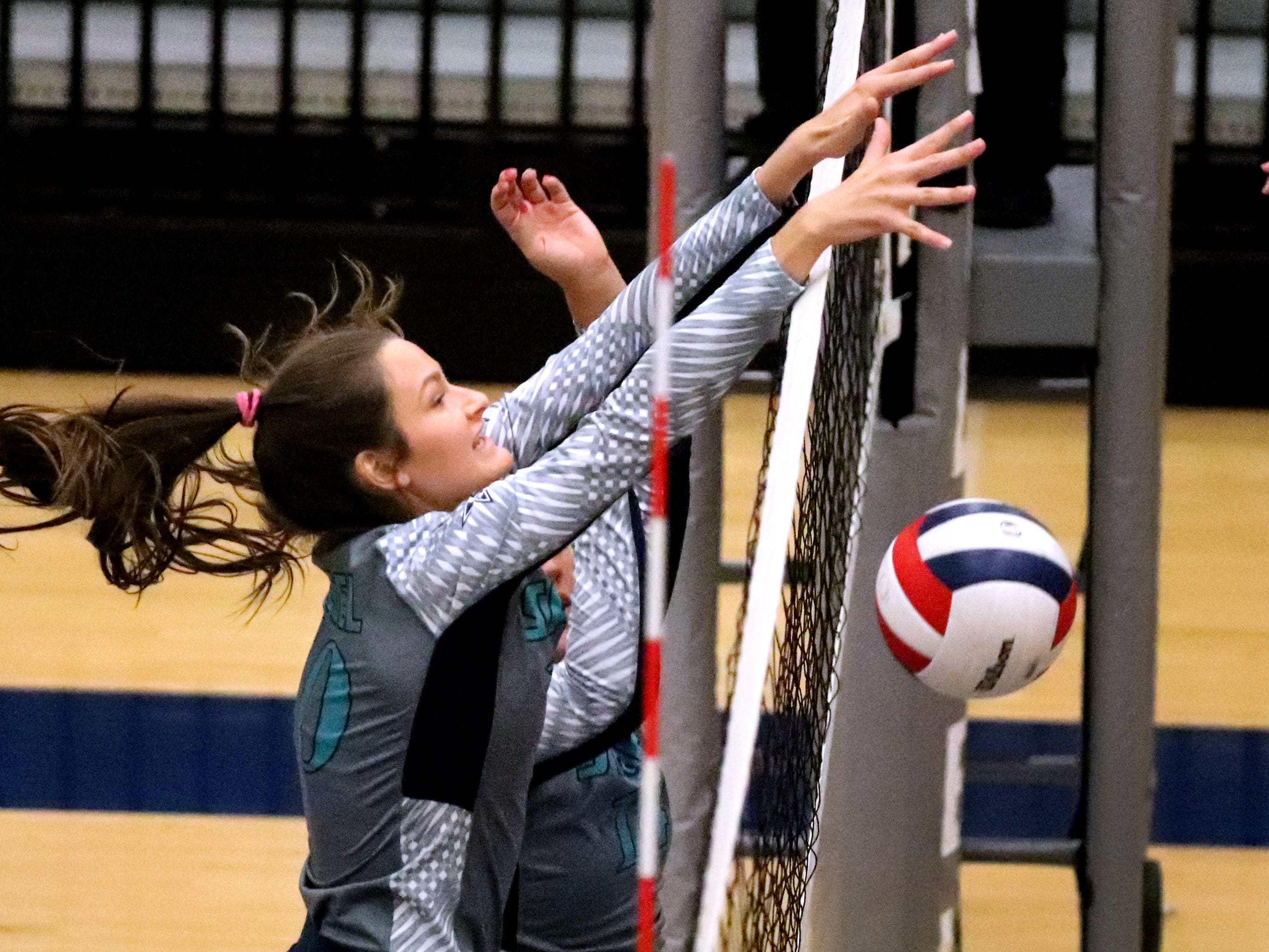 Siegel's Grace Reidmiller (10) goes after the ball during the Class AAA sectional against Cleveland Thursday, Oct. 11, 2018. Siegel beat Cleveland to advance to the State Championship tournament.