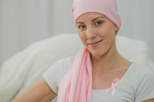 Hopeful Woman Battling Breast Cancer