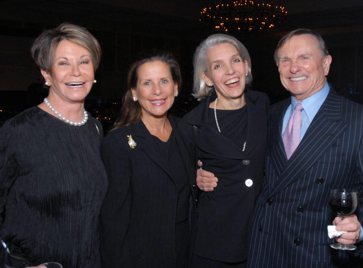 L-R Colleen Conway-Welch, Julie Boehm, Elizabeth Papel, Ted Welch Vanderbilt School of Nursing Gala