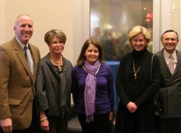 Jimmy Granbery, Colleen Conway-Welch, Jamie Granbery, Jennie McCabe, Ted Welch, Rob McCabe. Pinnacle Financial Partners hosted a grand opening Feb. 2 for its office at the Hill Center at Belle Meade. Attached are some photos of those in attendance