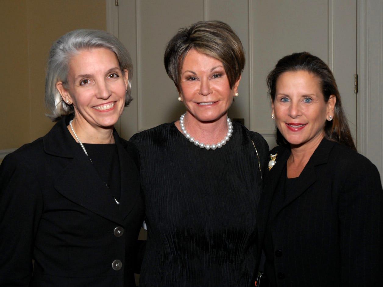 Elizabeth Papel, left, Colleen Conway-Welch, Julie Boehm at the Vanderbilt School of Nursing Gala. 11/13/2008