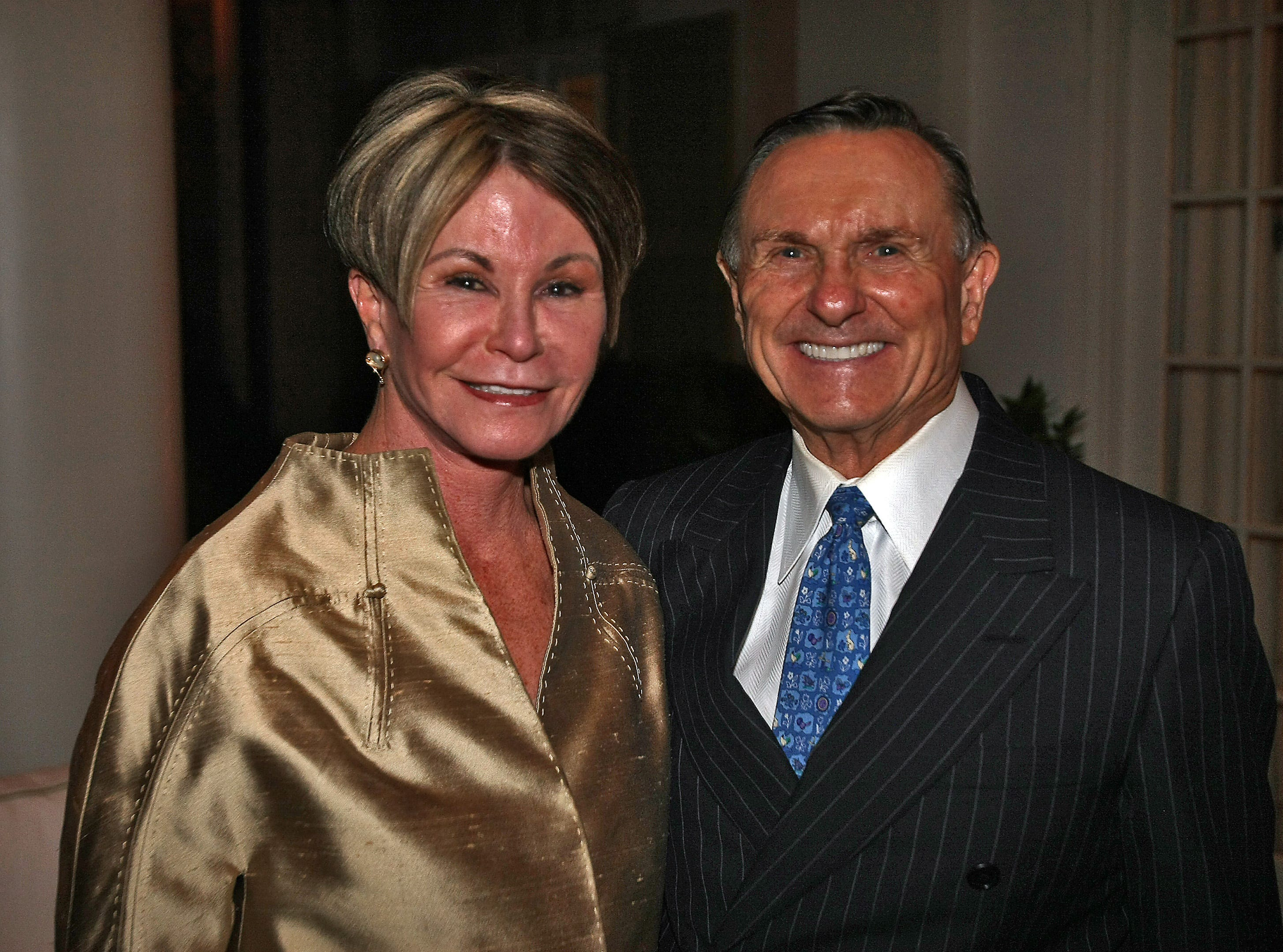 Colleen Conway-Welch, left and Ted Welch during Frist Gala Patron Party at the home of Karyn and Bill Frist in Nashville, Tenn., Thursday, Oct. 6, 2009.