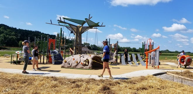 Work is done at Legacy Community Park  in Hanover in late July.